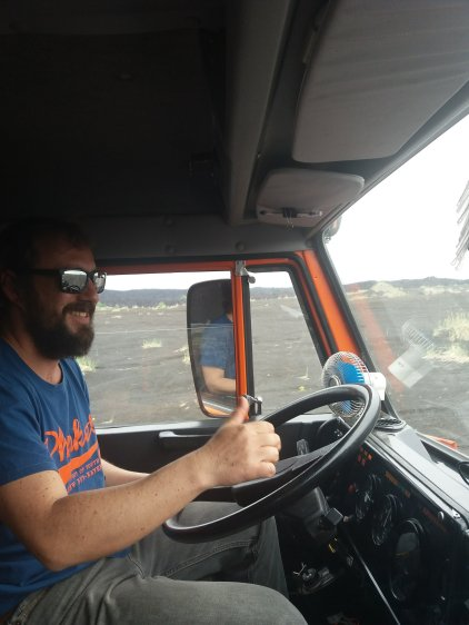 The awesome driver of this Kamaz 6 wheel drive monster machine, Anatoly, let me drive!