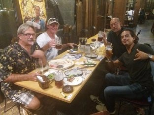 Dinner at Otaru Beer House with, among others, Toru, fastest sailor I've ever met, having circumnavigated the globe in 56 days and gone from Yokohama to San Francisco in 14 days